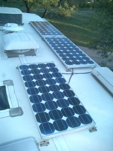 RV Solar Power Panels.